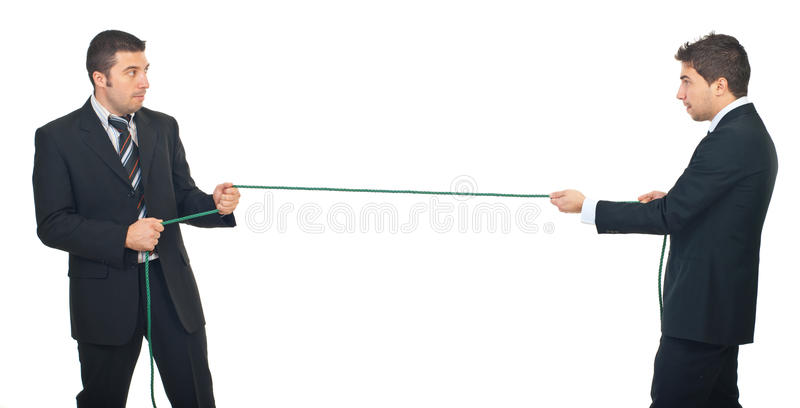 Business men competition stock photography