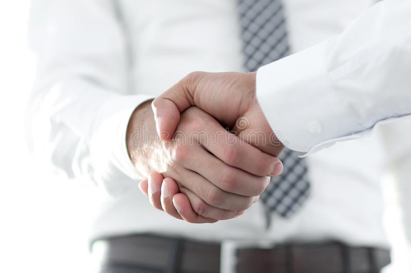 Business men giving a handshake. Business concept. Business handshake and business people. Business concept royalty free stock photography