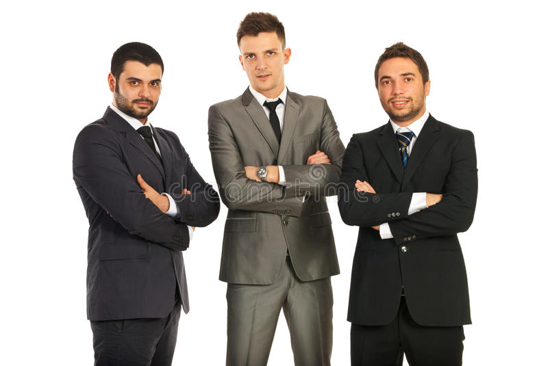 Business Men With Hands Crossed Stock Image
