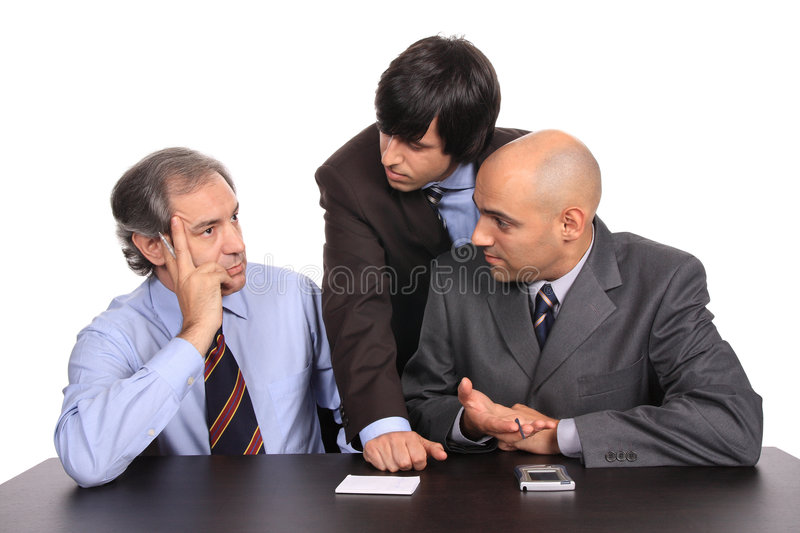 Download Business men on a meeting stock image. Image of attractive - 5752917
