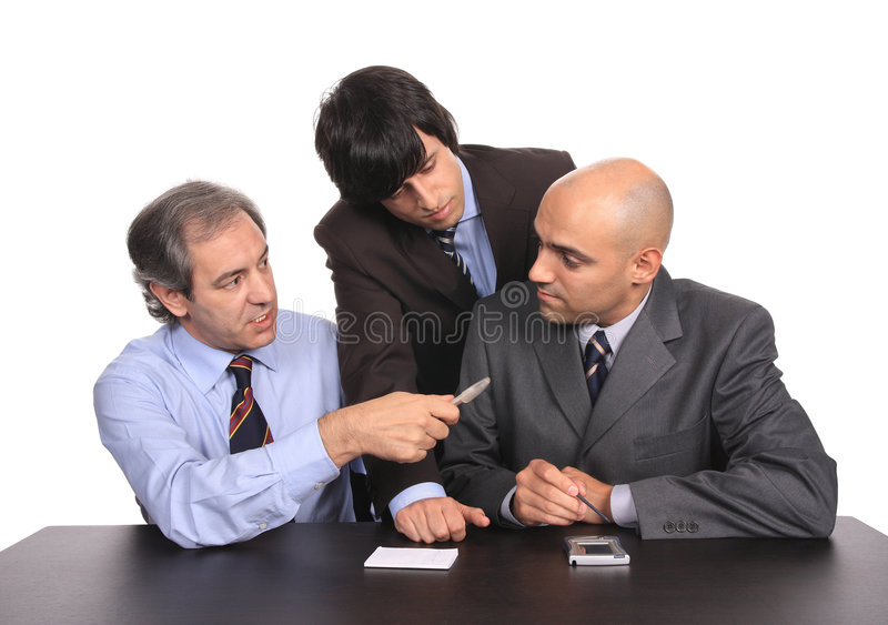 Business Men On A Meeting Stock Photo