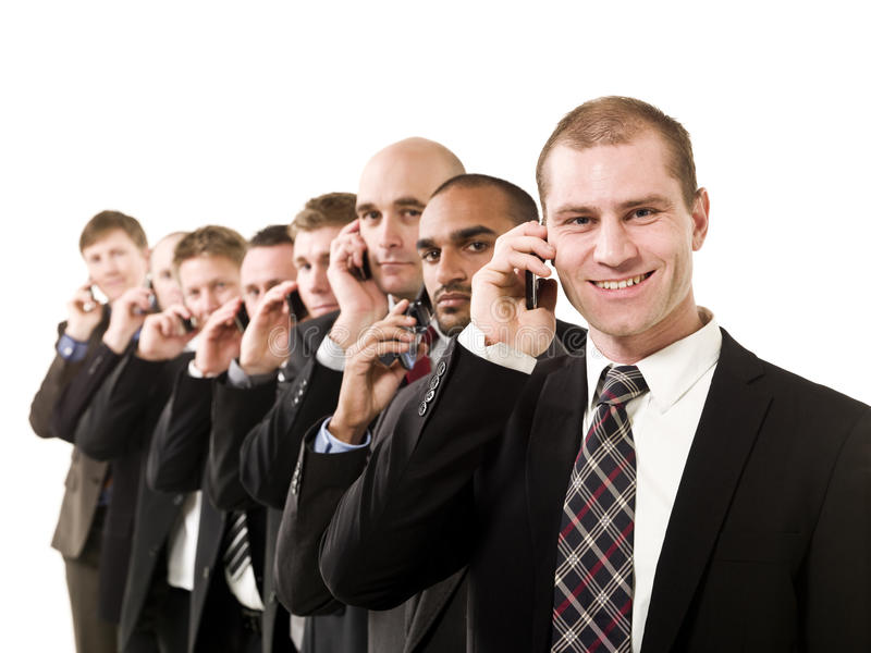 Business men on the phone stock photo