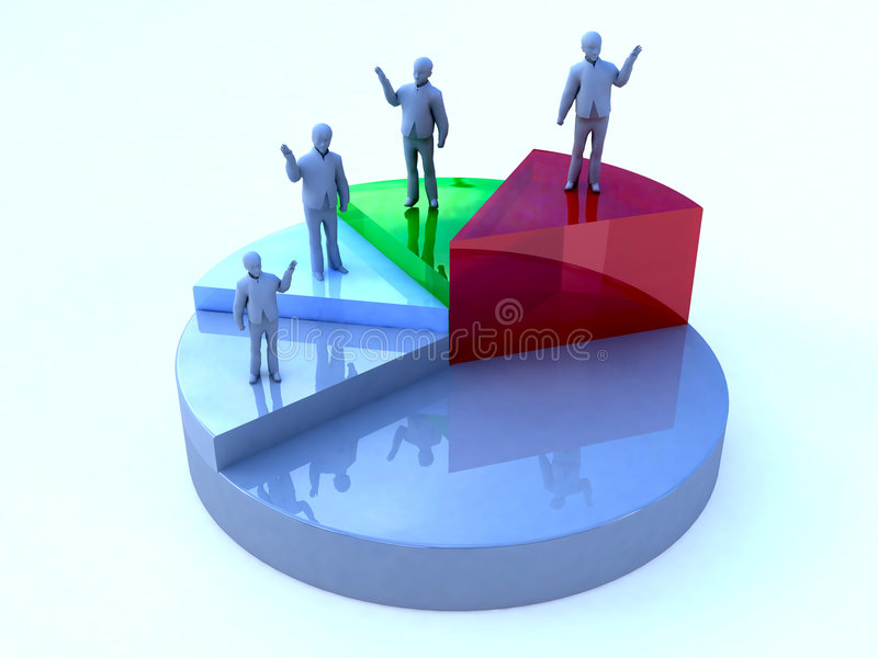 Download Business Men Pie Chart Royalty Free Stock Photography - Image: 6806877