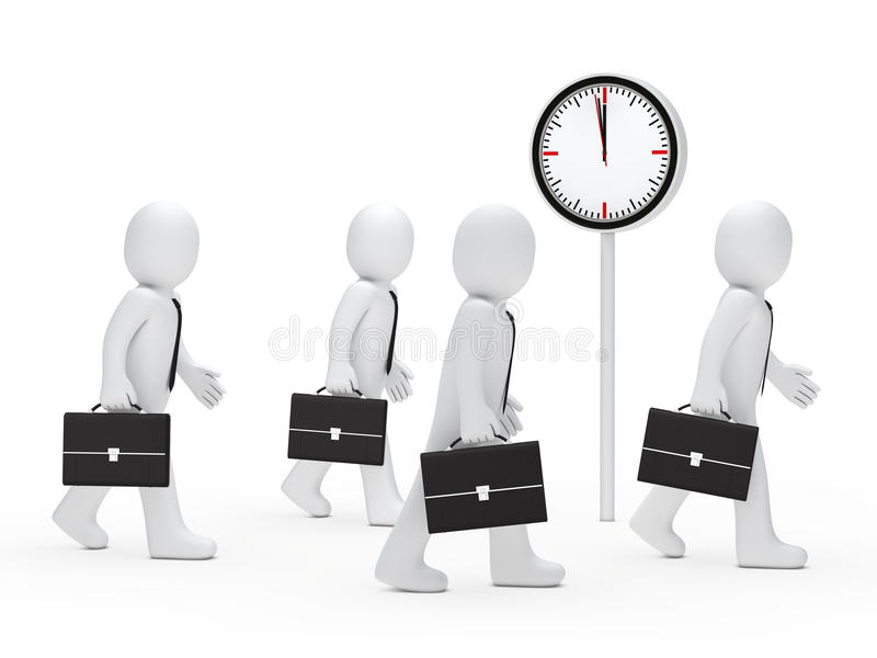 Download Business men run time stock illustration. Image of corporate - 22140684