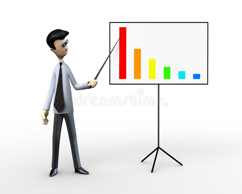 Business men at the schedule vector illustration