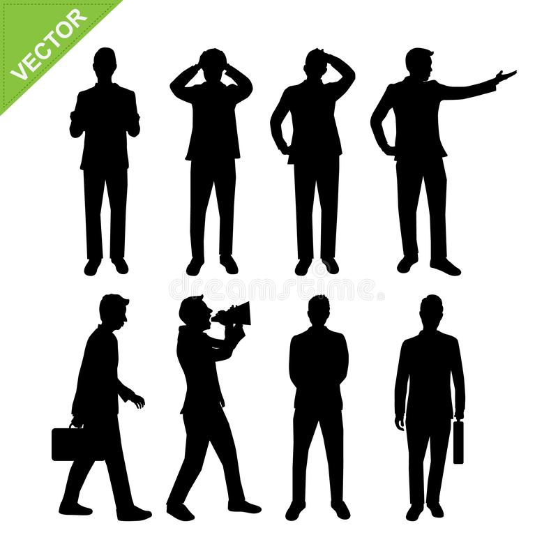 Business men silhouette vector stock illustration