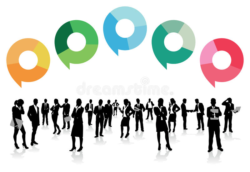 Business men speech bubbles vector illustration