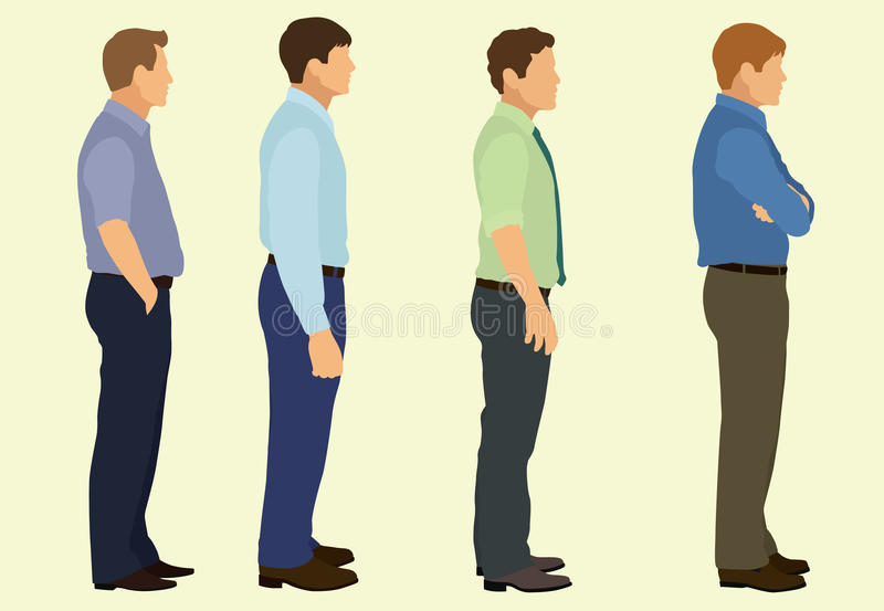 Business Men Waiting royalty free illustration