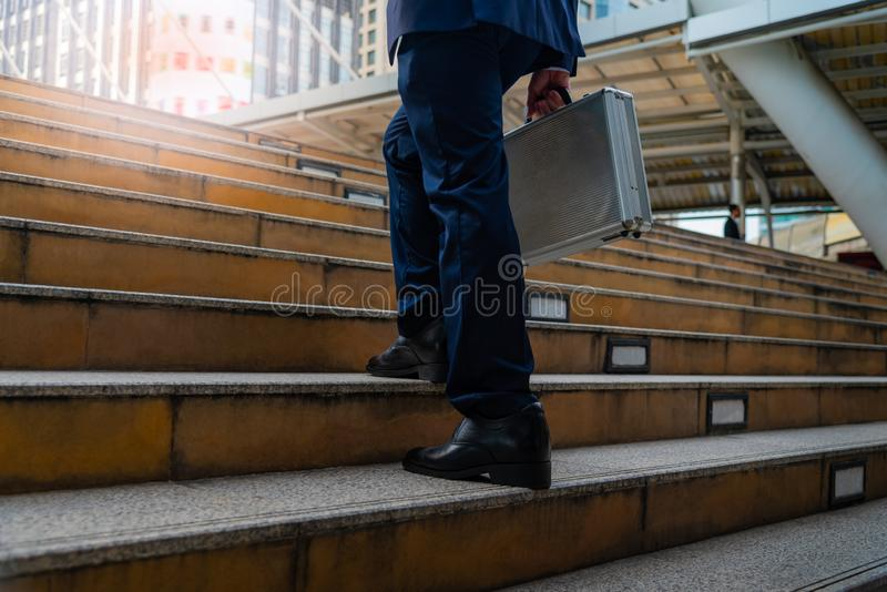 Business men walking in the city royalty free stock photography