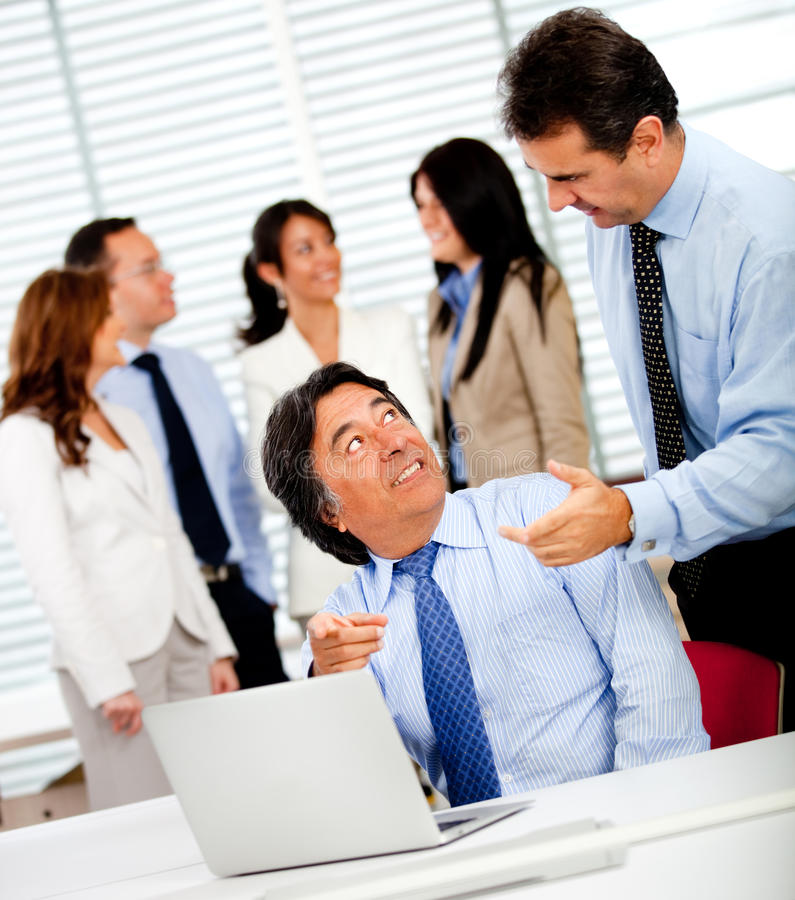 Download Business men at work stock image. Image of group, office - 21869209