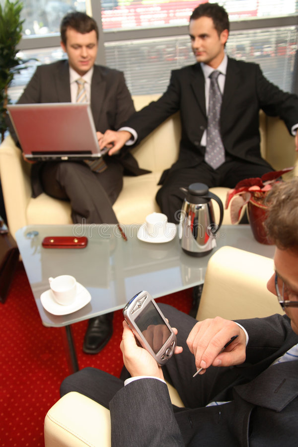 Business Men Working In The Office Stock Image