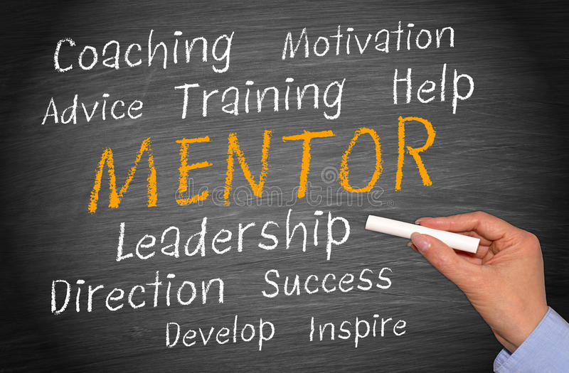 Business mentor background stock photography