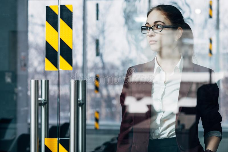 Business millennial young woman office workspace royalty free stock photo