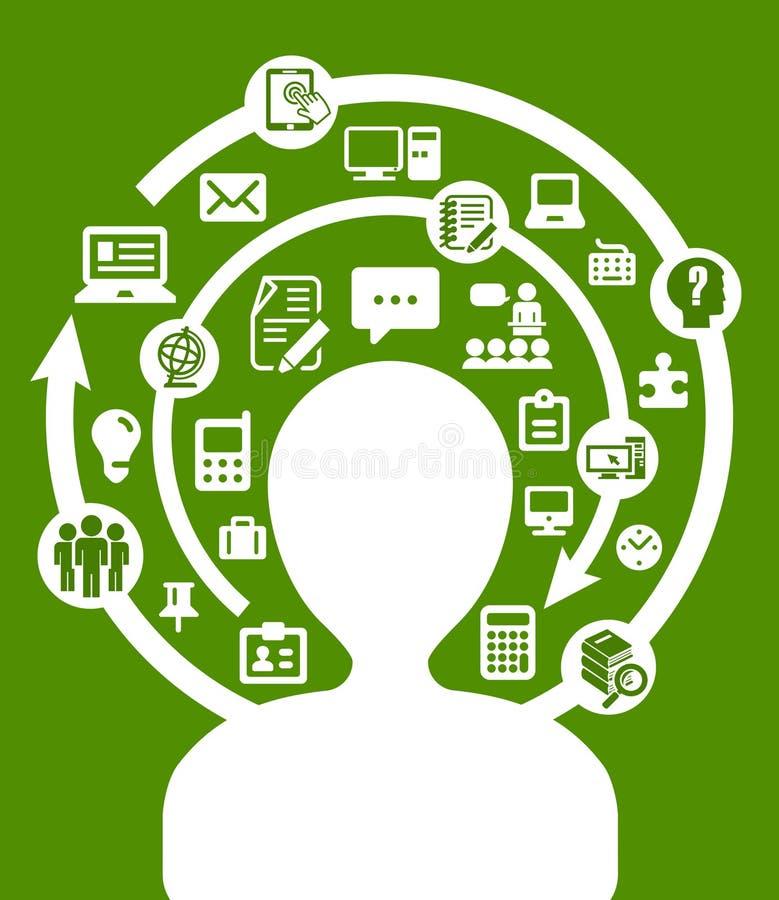 Business mind vector illustration