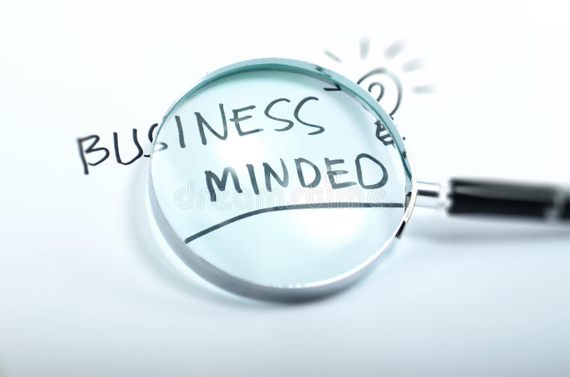 Business minded royalty free stock image