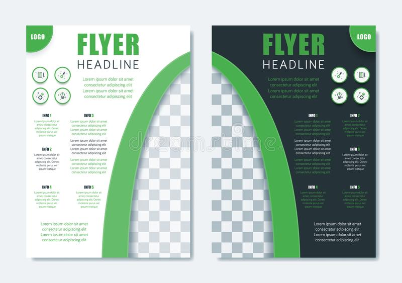 Business Modern Brochure Template. Minimalist Clean Flyer Layout stock illustration