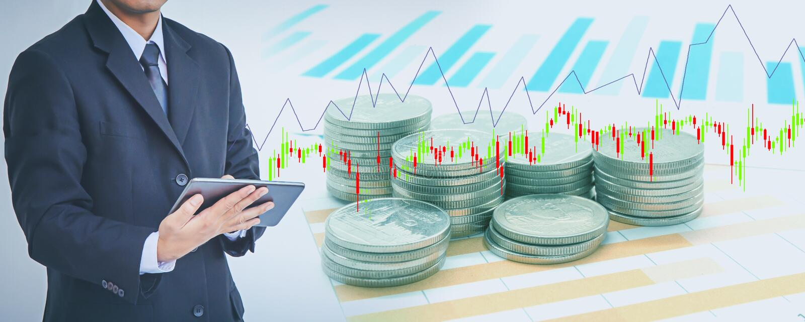 Business modern technology, finance investment concept stock image