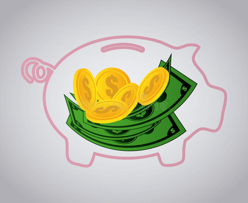 Business and money design. Business and money design, vector illustration stock illustration