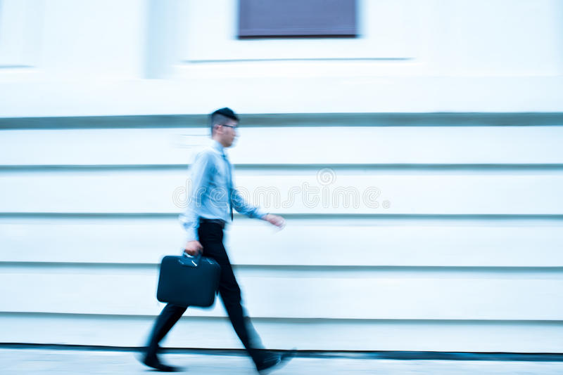 Business in motion royalty free stock image