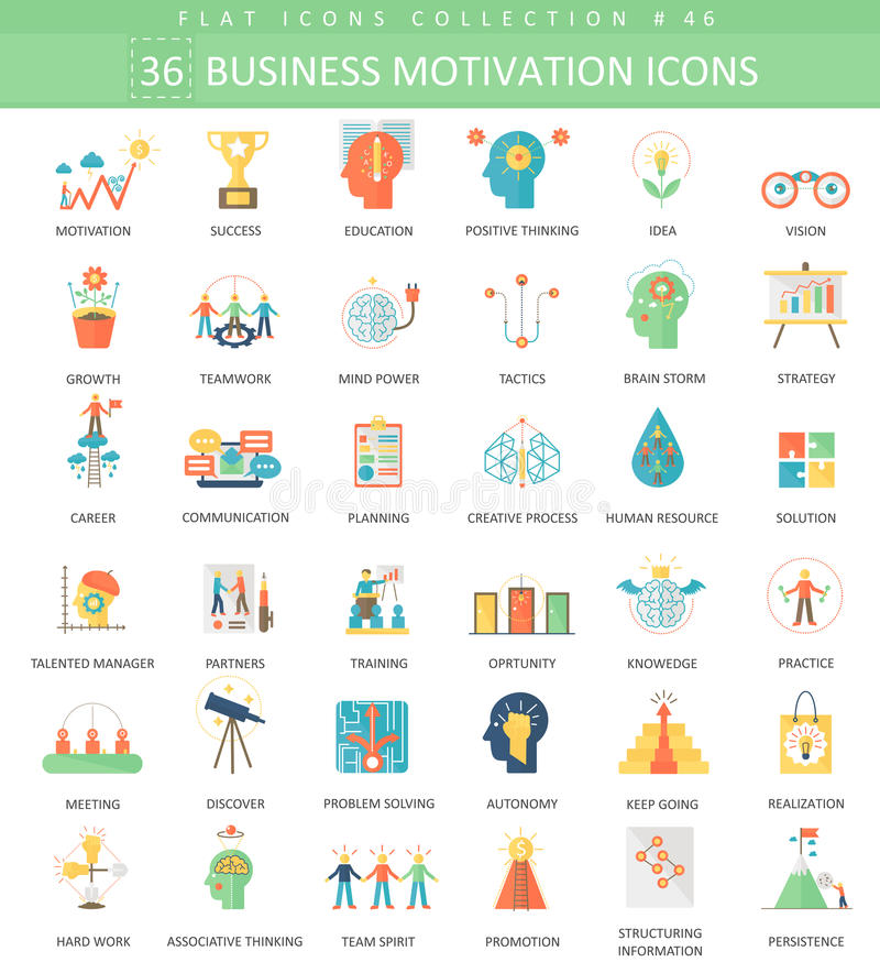 Business Motivation Color 36 Stock Vector Illustration of