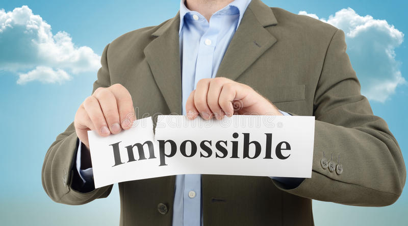 Business motivation. Making the impossible possible, business motivation stock photos