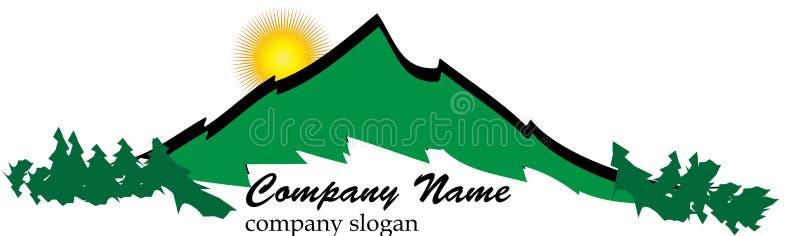 Business mountain logo royalty free illustration