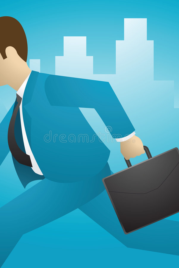 Business on the move stock illustration
