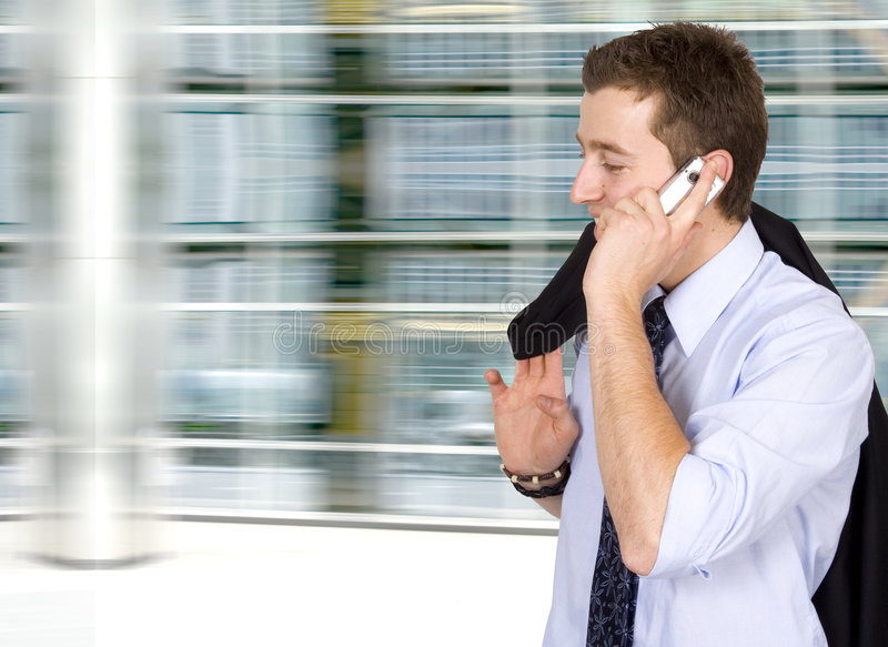 Download Business On The Move - Cell Phone Stock Photo - Image: 839898