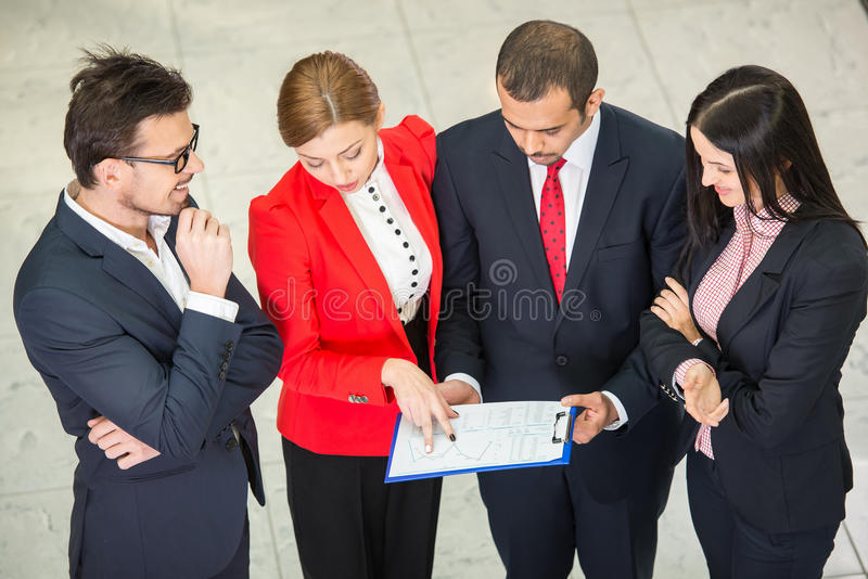 Business. Multi ethnic business team at a meeting are discussing project royalty free stock image