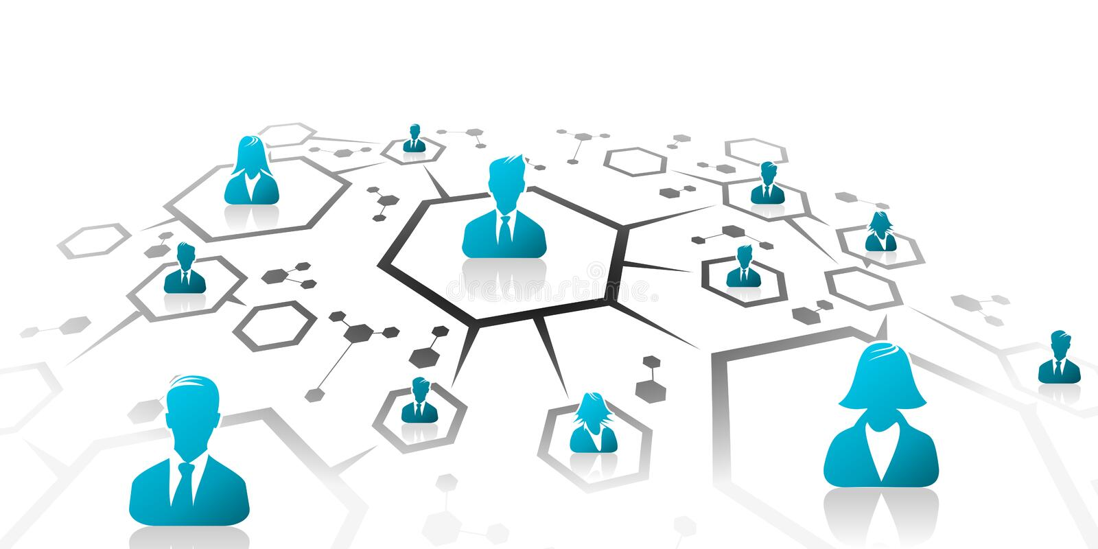 Business network. Abstract illustration of business network grid vector illustration