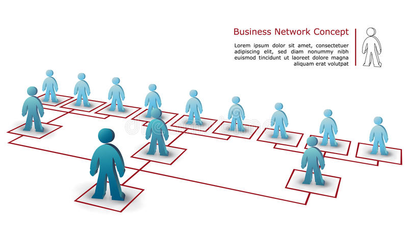 Business network concept royalty free stock photos