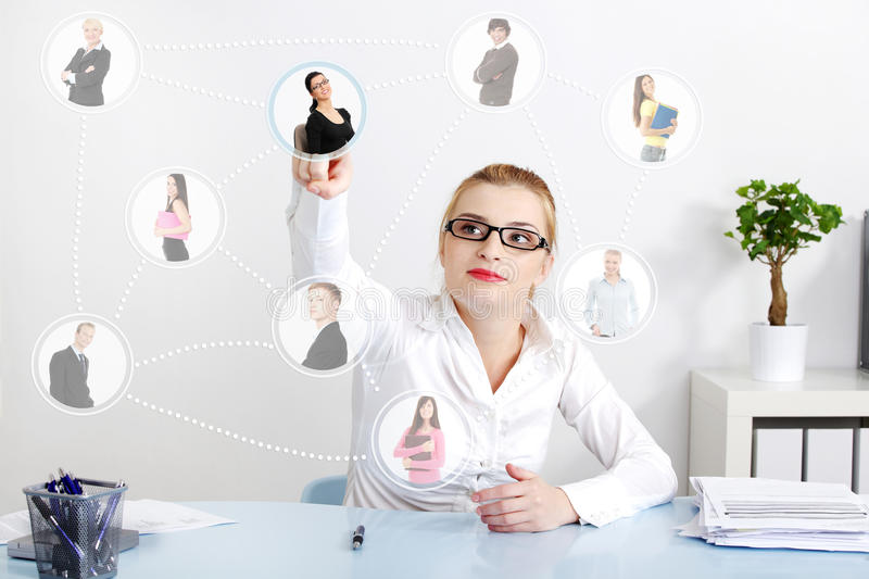 Business network connection. royalty free stock image