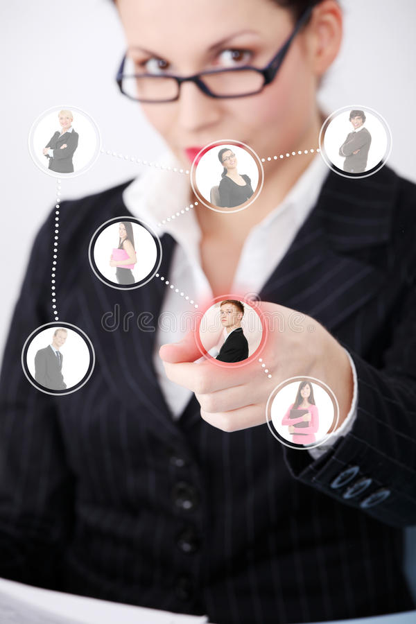 Business network connection. royalty free stock photography