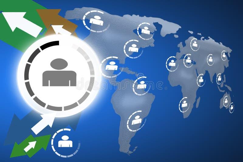 Download Business networks stock illustration. Image of communication - 24906704