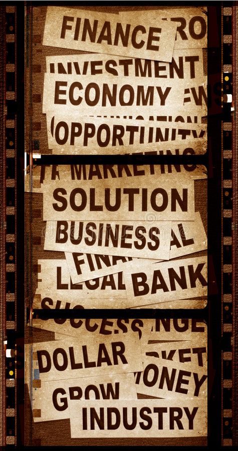 Download Business New Headlines With Old Paper Stock Image - Image: 5488931