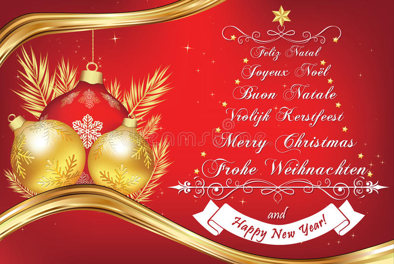 Business new year greeting card in many languages stock vector download business new year greeting card in many languages stock vector illustration of wreath m4hsunfo