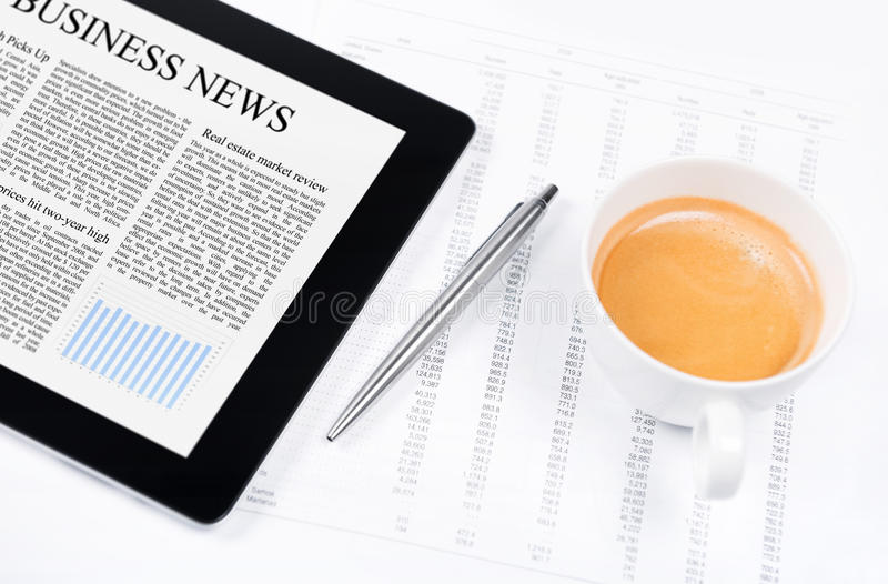Download Business News On Modern Tablet PC Stock Image - Image: 24574255