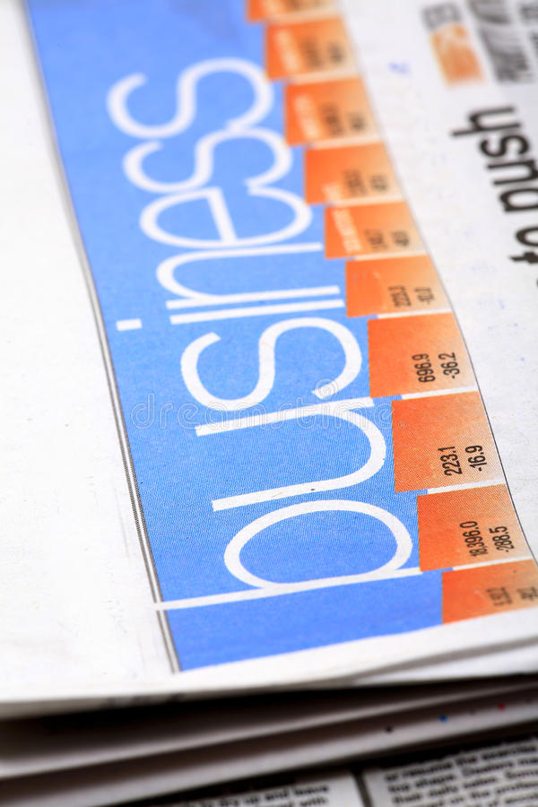 Download Business newspaper stock image. Image of print, full - 18571017