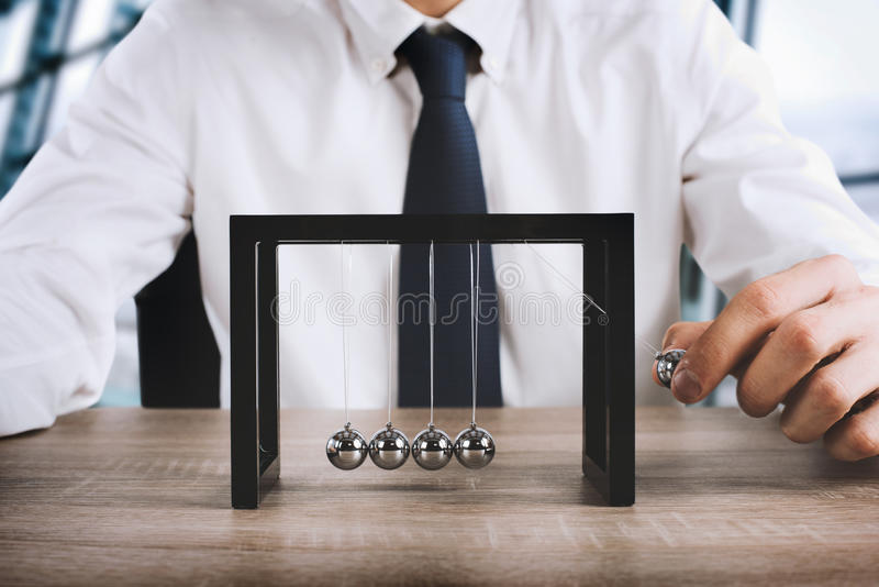Business Newtons cradle royalty free stock image