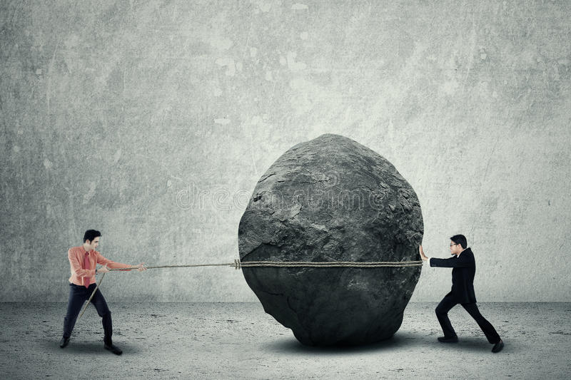 Business obstacle royalty free stock image