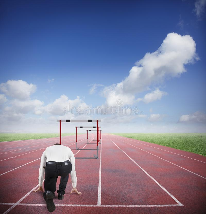 Business obstacles stock photography