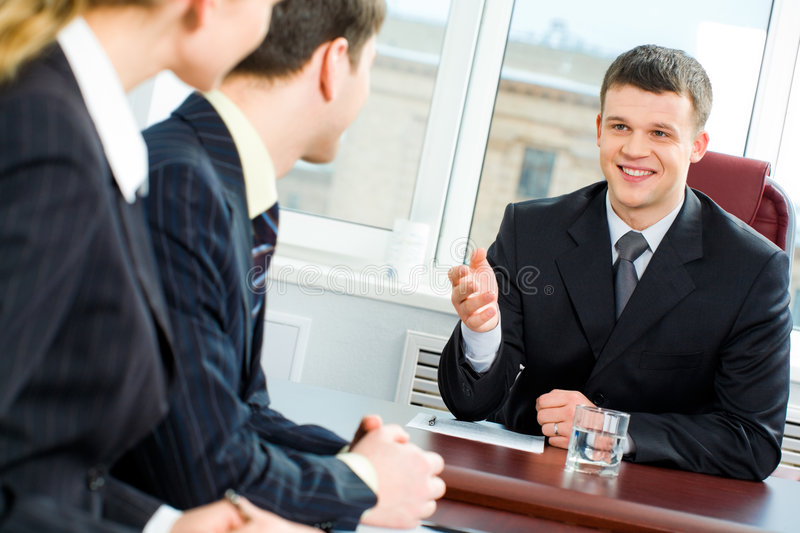 Business offer stock image