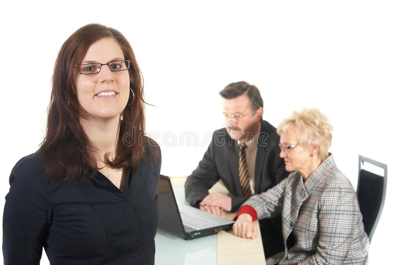 Business in an office stock photos