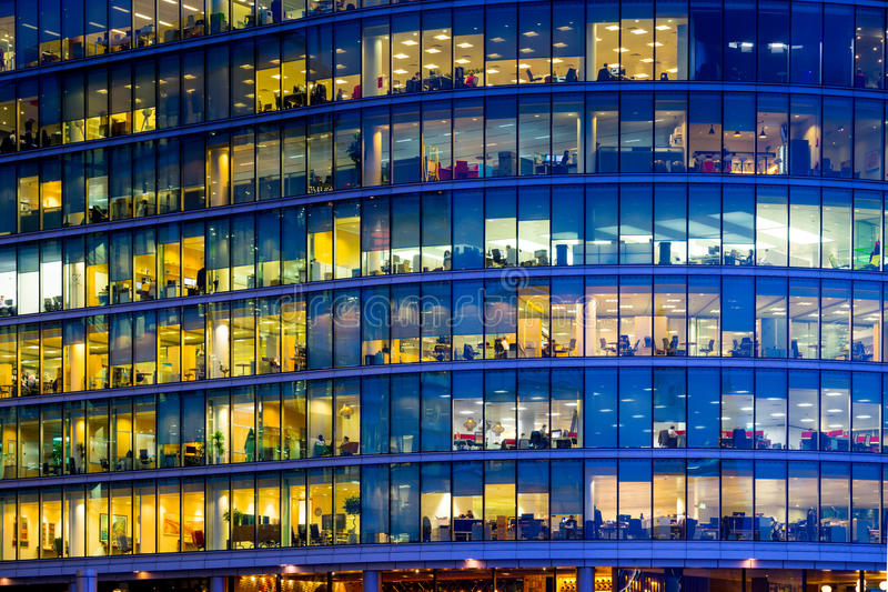 Business office building in London, England.  stock photos