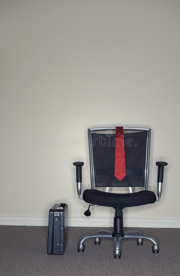 Download Business Office Chair And Briefcase Stock Image - Image: 1439829