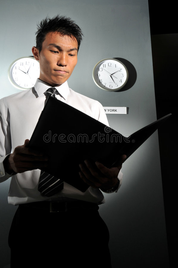 Download Business Office With Clock 133 Stock Photo - Image: 7139526