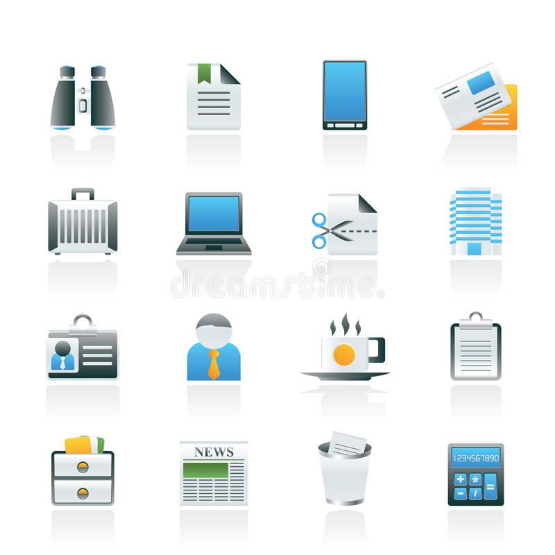 Download Business And Office Elements Icons Royalty Free Stock Photography - Image: 22230557