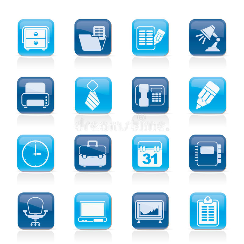 Download Business And Office Equipment Icons Stock Vector - Illustration of office, business: 32648934