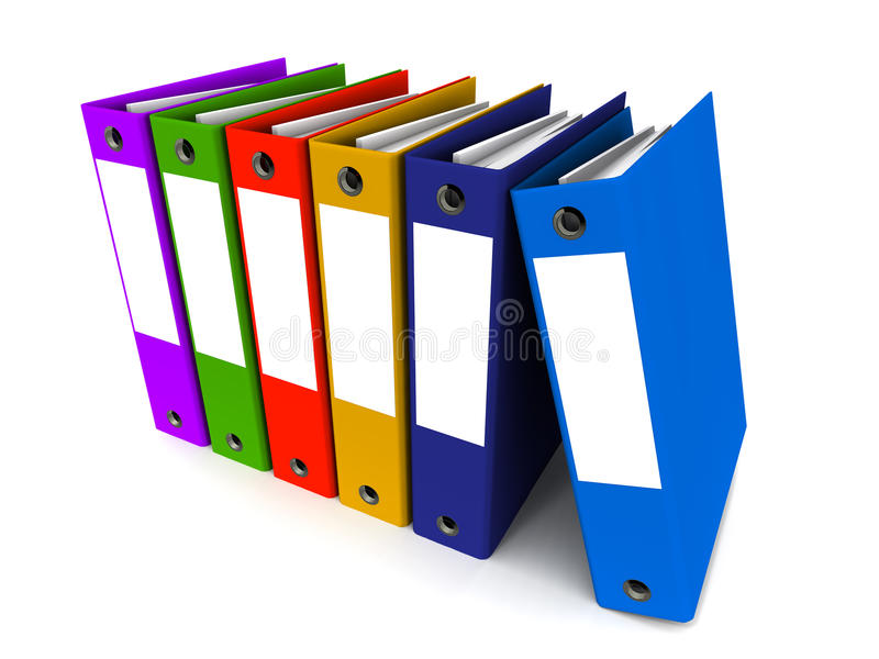 Business office files royalty free illustration