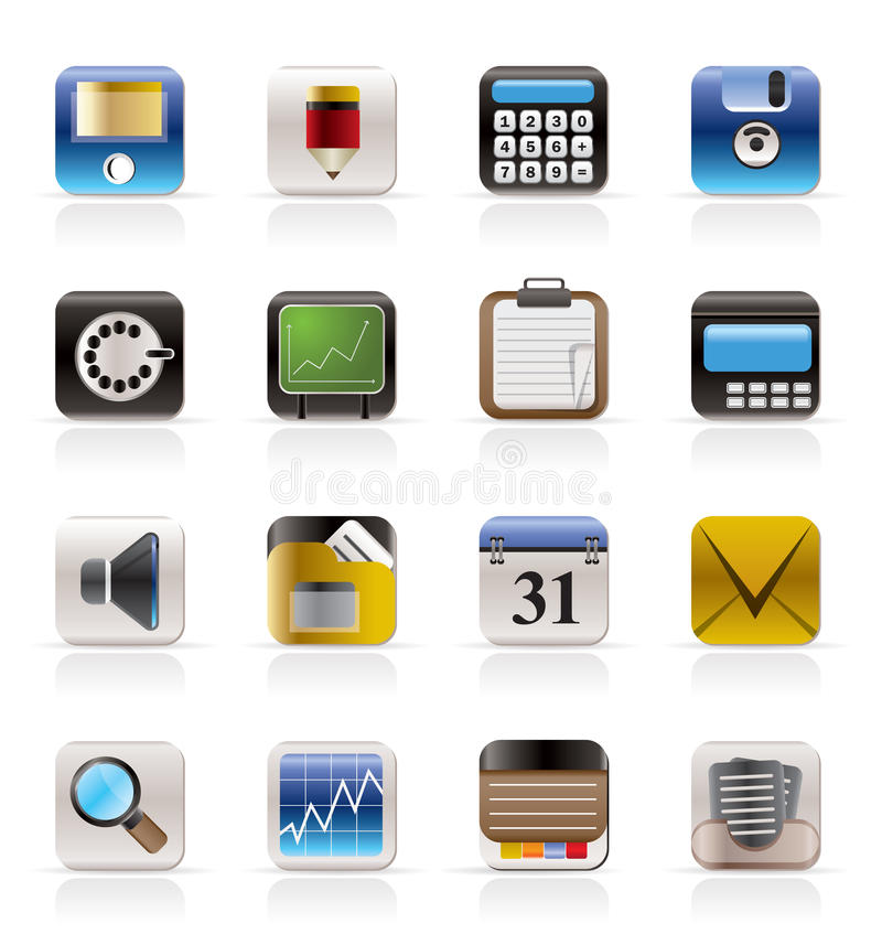 Download Business, Office And Finance Icons Stock Images - Image: 9948144